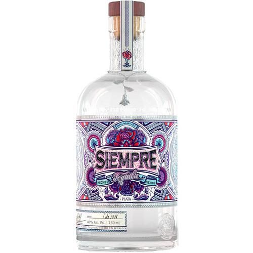 Siempre Plata Tequila 750ml