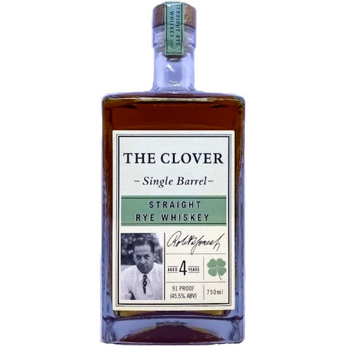 The Clover Single Barrel 4 Year Old Straight Rye Whiskey 750ml