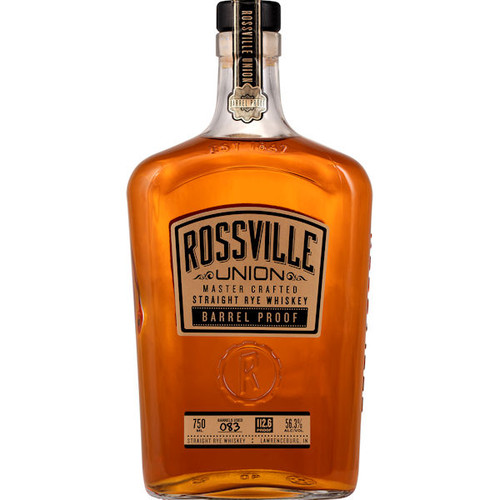 Rossville Union Master Crafted Barrel Proof Straight Rye Whiskey 750ml
