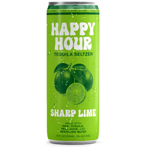Happy Hour Sharp Lime Tequila Seltzer 12oz 4 Pack Cans