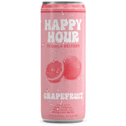 Happy Hour Grapefruit Tequila Seltzer 12oz 4 Pack Cans