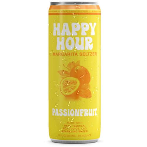 Happy Hour Passionfruit Margarita Seltzer 12oz 4 Pack Cans