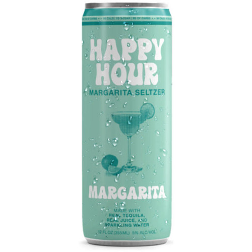 Happy Hour Margarita Seltzer 12oz 4 Pack Cans
