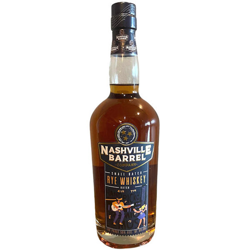 Nashville Barrel Co. Small Batch Rye Whiskey 750ml