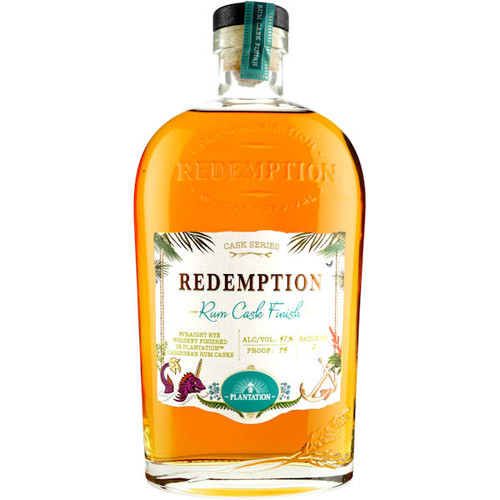 Redemption Rum Cask Finish Rye Whiskey 750ml