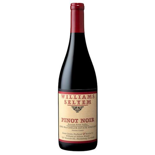 Williams Selyem Lewis MacGregor Estate Vineyard Russian River Pinot Noir