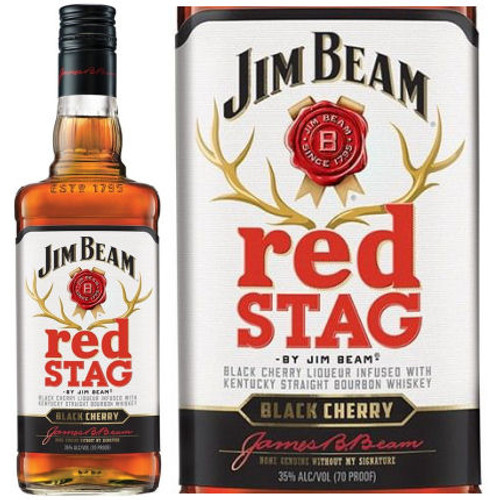 Red Stag by Jim Beam Kentucky Straight Black Cherry Infused Bourbon 750ml