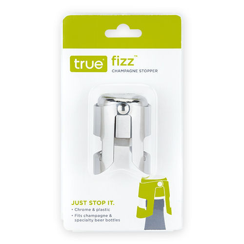 True Fizz Chrome Champagne Stopper