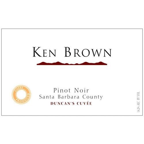 Ken Brown Duncan's Cuvee Santa Barbara Pinot Noir