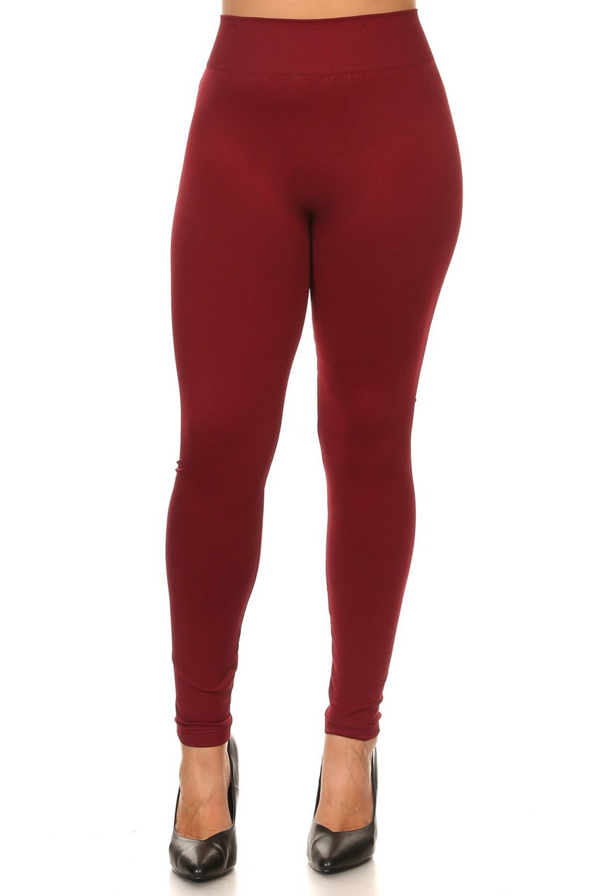 34d63f9bb504c Front side image of Wholesale Extra Thick Basic Seamless Plus Size Leggings