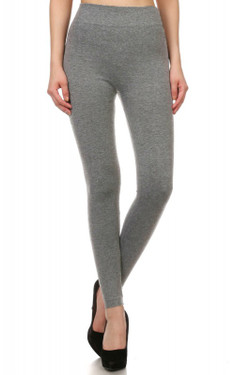 Front image of Wholesale Women's Premium Fleece Lined Leggings