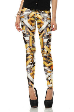 Wholesale Premium Graphic Cigarette Leggings