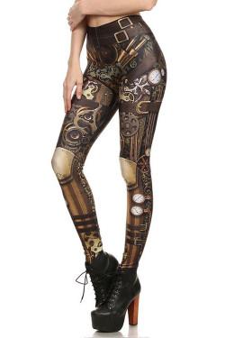 Wholesale Premium Graphic Classic Steampunk Leggings