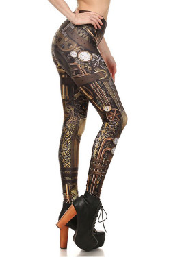 Wholesale Premium Graphic Classic Steampunk Leggings