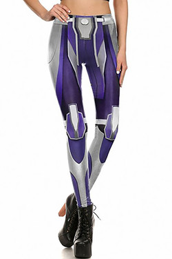 Front side image of DP-1671KDK - Wholesale Premium Graphic Leggings