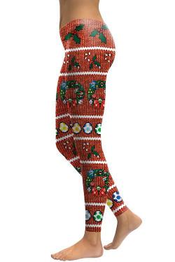 Left side leg image of DP-1042SKDK - Wholesale Premium Graphic Leggings