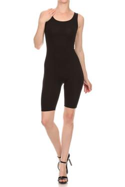 Wholesale USA Basic Cotton Thigh Shorts Jumpsuit