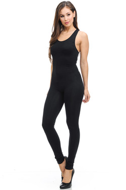 Right Side Image of Wholesale Basic Nylon Spandex Jumpsuit