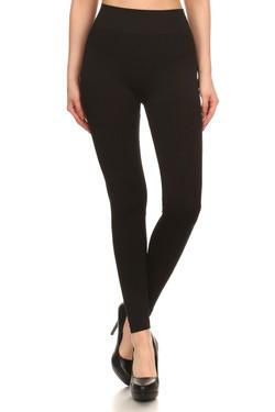 Front side image of 7L21 - Wholesale Premium Basic Seamless Leggings