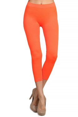 Wholesale Capri Length Neon Nylon Spandex Leggings