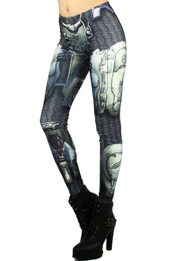 Wholesale Graphic Robotic Armor Leggings