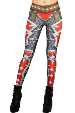 Wholesale Graphic Steel Plate Armor Leggings