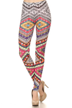 Front side image of P-3491 - Wholesale Made in the USA Graphic Print Leggings
