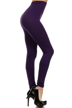 Wholesale High Waisted Basic Contouring Leggings