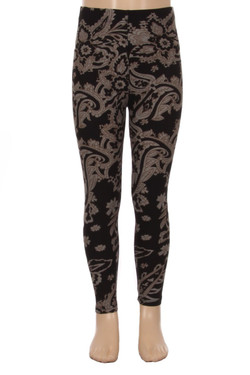 Wholesale Buttery Soft Champagne Paisley Kids Leggings