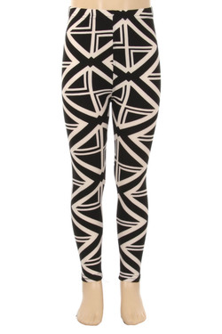 Wholesale Buttery Soft Cascading Lines Kids Leggings