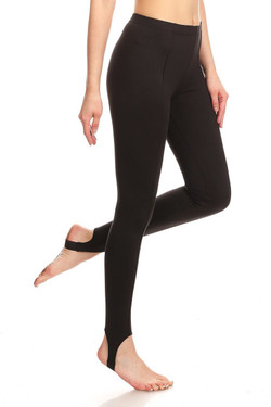 Profile image of Wholesale Premium Brushed Black Sport Stirrup Leggings