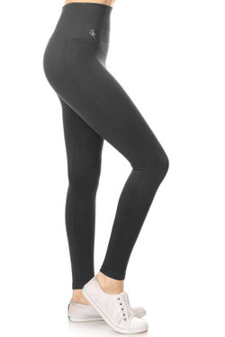 Wholesale Women's Free Motion Workout Leggings - Charcoal