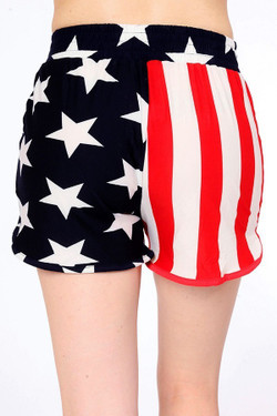 Wholesale Buttery Soft Split USA Flag Shorts