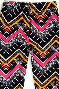 Wholesale Buttery Soft Colorful Tribal Chevron Kids Leggings
