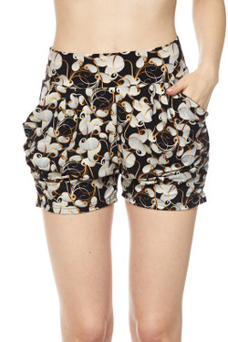 Wholesale Buttery Soft Efflorescent Petals Harem Shorts