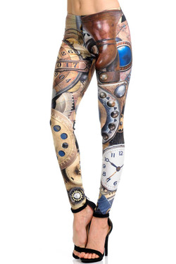 Wholesale Premium Graphic Print Precision Steampunk Leggings