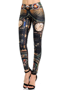 Wholesale Premium Graphic Print Genteel Steampunk Leggings