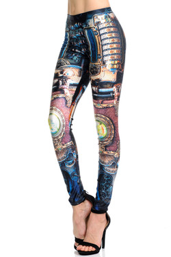 Wholesale Premium Graphic Print Regulate Steampunk Leggings