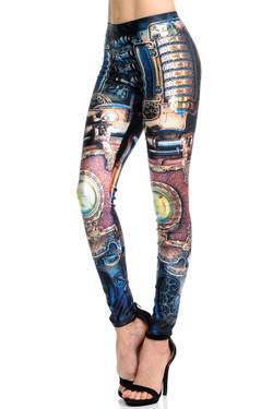 Wholesale Premium Graphic Print Regulate Steampunk Leggings