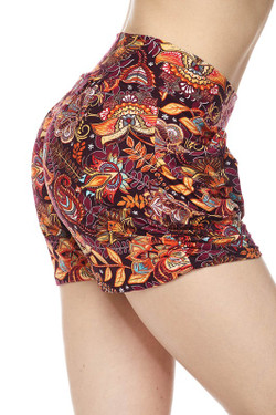 Wholesale Buttery Soft Floral Mezzanine Harem Shorts