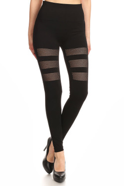 Wholesale Premium Tri Thigh Mesh Seamless Leggings