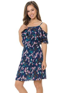 Wholesale Passion Petals Flowing Floral Summer Dress