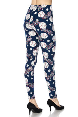Wholesale Buttery Soft Major League Baseball Plus Size Leggings - 3X-5X