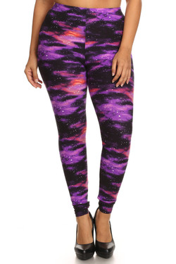 Wholesale Buttery Soft Purple Mist Plus Size Leggings - 3X-5X