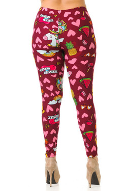 Wholesale Buttery Soft Hearts and Unicorns Plus Size Leggings - 3X-5X
