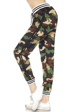 Wholesale Premium Street Ready Perforated Camouflage Joggers