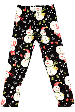 Wholesale Buttery Soft Frosty the Snowman Kids Leggings