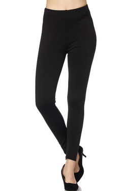 Wholesale Fleece Lined Solid Leggings