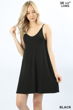 Wholesale Premium V Neck Spaghetti Strap Adjustable Rayon Tunic