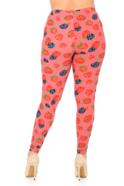 Wholesale Buttery Soft Very Berry Extra Plus Size Leggings - 3X-5X